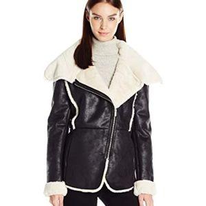 Rachel Roy Plush Faux Fur Moto Jacket NWOT
